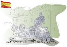 Cybele的喷泉在马德里 免版税库存图片