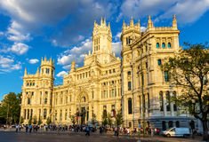 Cybele Palace, the City Hall of Madrid Stock Photo