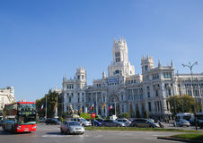 Cybele Palace (City Hall) at the Plaza de Cibeles in Madrid, Spa Stock Photography