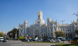 Cybele Palace (City Hall) at the Plaza de Cibeles in Madrid, Spain Stock Images