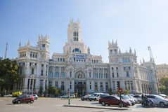 Cybele Palace (City Hall) at the Plaza de Cibeles in Madrid Stock Image