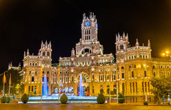 The Cybele Palace in Madrid, Spain stock image