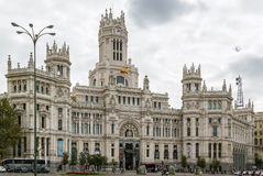 The Cybele Palace, Madrid, Spain. Royalty Free Stock Photo