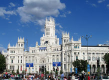 Cybele Palace on Plaza de Cibeles in Madrid Royalty Free Stock Image