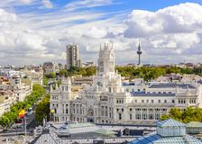 Cybele Plaza of Madrid Stock Photos