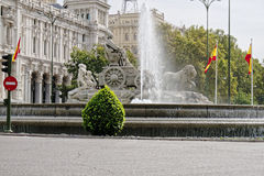 Cybele`s fountain on Cybele`s Square in Madrid, Spain Stock Image
