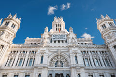 CybeleS Palace City Hall in Madrid, Spain. stock photography