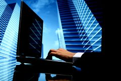 cyber地产商销售额 免版税库存图片