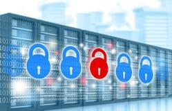 Cyber证券概念 库存例证