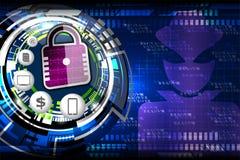 Cyber证券概念 免版税库存图片