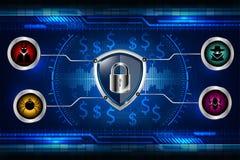 Cyber证券概念 免版税库存照片