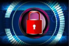 Cyber证券概念 库存照片