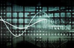 cyber证券 图库摄影