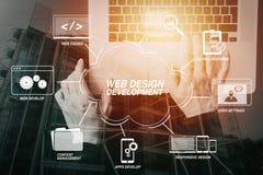 cyber ασφάλεια Διαδίκτυο και έννοια δικτύωσης σημάδι χεριών ελέγχου επιχειρηματιών τραπεζών Στοκ Εικόνες