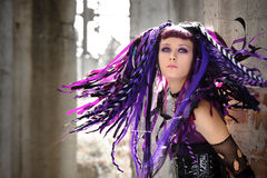 cyber κορίτσι γοτθικό Στοκ φωτογραφίες με δικαίωμα ελεύθερης χρήσης