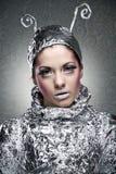 cyber κορίτσι Στοκ φωτογραφία με δικαίωμα ελεύθερης χρήσης