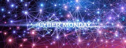 Cyber понедельник Иллюстрация технологии вектора иллюстрация вектора