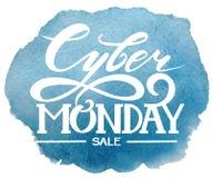 Cyber понедельник литерность Векторные графики, продажа Стоковая Фотография RF