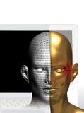 cyber принципиальной схемы Стоковые Изображения