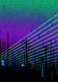 Город Cyber Стоковое Изображение RF
