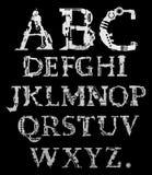 Cyber alphabet Royalty Free Stock Photos