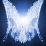 Cyber Angel Wings. Futeristic concept for faith, peace, and exploration vector illustration