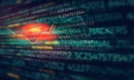 Cyber-Angriffskonzept stockfoto