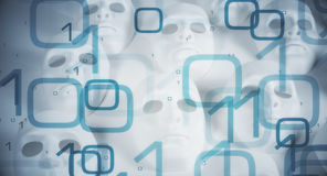 Cyber astronautycznego abstrakcjonistycznego poczęcia duzi dane Zdjęcie Stock