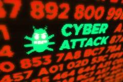 Cyber atak komputerową dżdżownicą zdjęcie royalty free