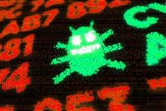 Cyber atak komputerową dżdżownicą zdjęcia royalty free