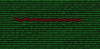 Cyber attack in binary code Stock Images