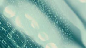 Cyber attack command script code algorithm, binary background royalty free illustration