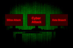 Cyber attack. Computer hacker or Cyber attack concept background Stock Photo