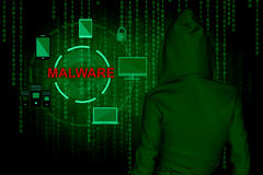 Cyber attack. Computer hacker or Cyber attack concept background ,3d illustration Royalty Free Stock Images