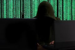 cyber attack consept stock images