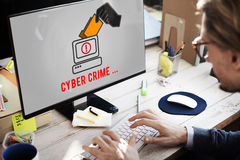 Cyber Attack Crime Fraud Hacker Security System Concept. Cyber Crime Fraud Hacker Security Concept stock image
