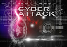 Cyber attack - 3d rendering Royalty Free Stock Photo