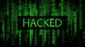 Cyber attack. Digital background green matrix. Binary computer code. Computer screen error templates. 3d rendering royalty free illustration