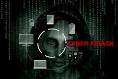 Cyber attack. Or Internet security concept background,3d illustration Stock Photo