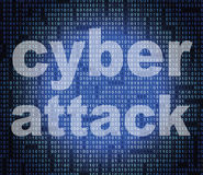 Cyber Attack Represents World Wide Web And Criminal Royalty Free Stock Image