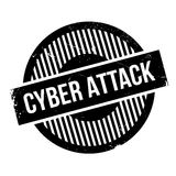 Cyber Attack rubber stamp Stock Image