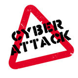 Cyber Attack rubber stamp Royalty Free Stock Photography