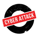 Cyber Attack rubber stamp Stock Images