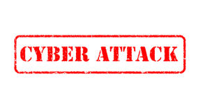 CYBER ATTACK  rubber stamp over a white background Stock Photography