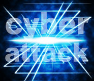Cyber Attack Shows World Wide Web And Criminal Royalty Free Stock Photo