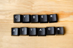 Cyber attack words Stock Photography