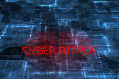 Cyber attack written background. Stock Photo
