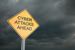 Cyber Attacks Ahead Royalty Free Stock Photos
