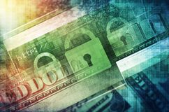 Cyber Attacks Concept. Illustration. Online Financial Security Stock Images