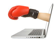 Cyber boxing Royalty Free Stock Photos